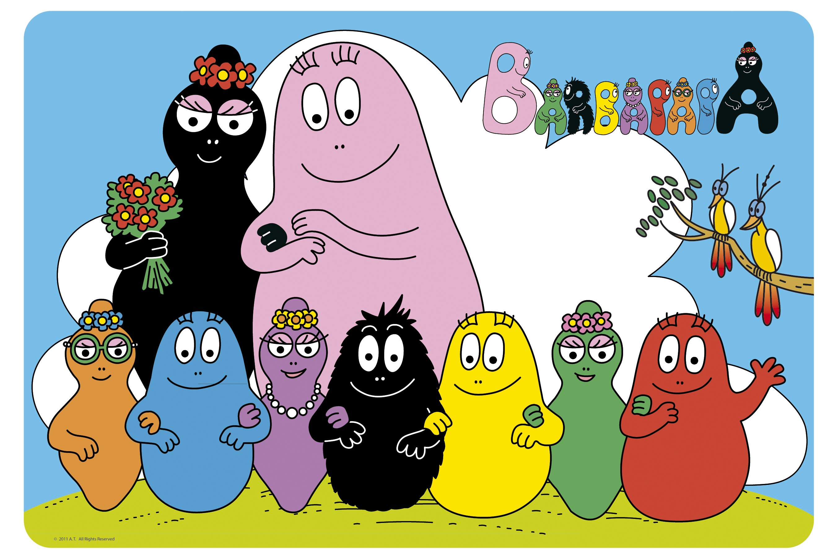 image famille barbapapa